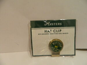 Masters Golf Hat Clip Magnetic Ball Marker NEW IN WRAPPER Augusta National