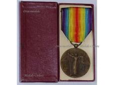 France WW1 Victory Interallied Medal 1914 18 CHARLES Decoration War French BOXED