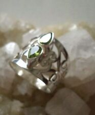 Ring mit Peridot, 925er Silber, Gr. 18,1 - Olivin -
