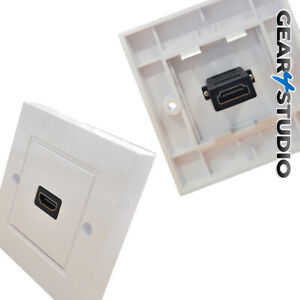 HDMI Single Wall socket with easy rear connection  Plug & Play - NO SOLDERING