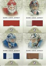 2008-09 IN THE GAME BETWEEN THE PIPES JUSTIN POGGE GAME USED JERSEY