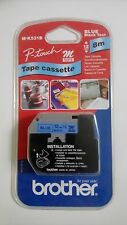 Brother P Touch M Tape Cassette 12mm Black print on Blue tape 8m