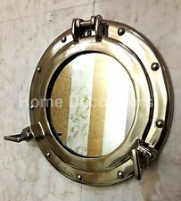 """Decorative Wall Hanging Mirror Silver Porthole Round Frame Home Decor Mirror 11"""""""