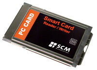 SCR243 Smart Card Reader / Writer PC Card  ID CAC SCM Microsystems *New*
