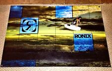 "RONIX ONE DANNY HARF BLUE BANNER 48"" * 32"" 2  Ronix Wakeboard Stickers Decal"