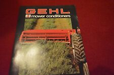 Gehl 2160 2130 Mower Conditioner Haybine Dealer's Brochure 4286-1283-20MW LCOH