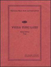 Bullard Spiral Type VTL Operator's Manual