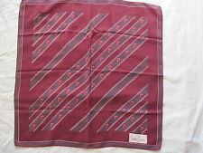-AUTHENTIQUE Foulard  carré   100% soie PIERRE CARDIN  TBEG  vintage Scarf