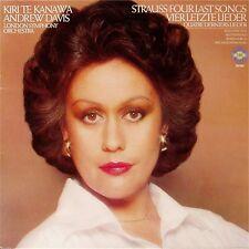 KIRI TE KANAWA / ANDREW DAVIS 'STRAUSS: FOUR LAST SONGS' GERMAN IMPORT LP