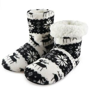 Home Slippers Christmas Indoor Socks Shoes Winter Shoes Woman Fur Sides Female
