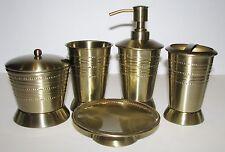 5 Pc Set Paradigm Brass Dispenser+Jar+Tumbler+Too thbrash Holder+Soap Dish