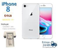 IPHONE 8 64GB BLANCO REACONDICIONADO LIBRE / GRADO A+ / CAJA Y ACCESORIOS