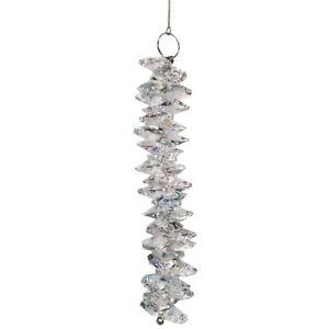 Kristall Strang L. 18cm Ø 25mm kristallklar Cluster Sonnenkristalle Mobile