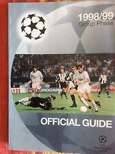 ALMANACCO CALCIO UFFICIALE CHAMPIONS LEAGUE 1998/99 OFFICIAL GUIDE GROUP PHASE