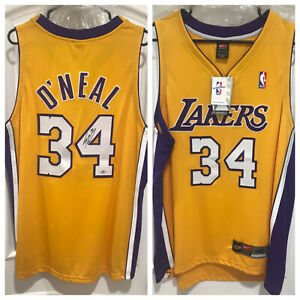 Shaquille O'Neal Signed Lakers Nike Authentic Jersey (Mounted Memories)