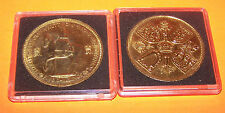 QUEEN ELIZABETH 11  FIVE SHILLINGS 24CT GOLD PLATED  1953