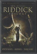 Riddick Trilogy Pitch Black, The Chronicles of Riddick, Dark Fury (Dvd 2006)