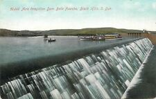 Belle Fourche~Black Hills SD~Irrigation Dam~Fishing & Excursion Boats~1908 PC