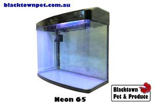 65L Glass Fish Tank Aquarium NEON 65 Litre w/ Light, Filter, Pump