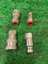 More details for hydraulic flat face couplers  1/2 bsp 1/2 body pack of 2 pairs