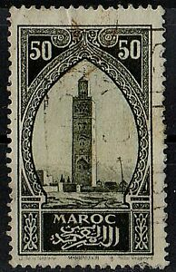 MOROCCO 1927 Koutoubiah Marrakesh Monuments /Mi:MA 65/ 50c STAMP