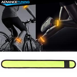 LED Slap Armband Lights Glow Band for Safe Night Running Cycling 35cm Yellow