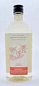 BATH & BODY WORKS AROMATHERAPY ENERGY GUAVA ORANGE BODY WASH & FOAM BATH 10 oz