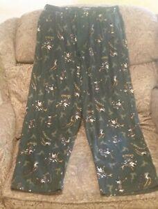 CROFT & BARROW men's size XL pajama pants reindeer Christmas green