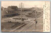 Willmar Minnesota~Great Northern GNRR Railroad Depot~Station Panorama~1906 RPPC