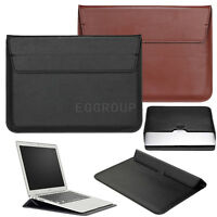 """For All Laptop 13"""" Macbook / Pro / Air Slim Leather Laptop Sleeve Bag Cover Case"""