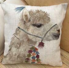 Print of a Decorative Alpaca Theme FILLED Evans Lichfield Cushion