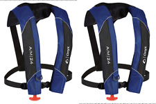 LOT-2-Automatic-Manuel-Life-Jacket-Vest-Auto-Inflatable-PFD-Survival-Flotation