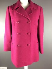 Jacques Vert ladies pink coat warm with buttons & pockets wool Blend UK size 12