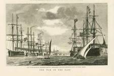 1877 antica stampa-Egitto Alessandria SQUADRONE NAVALE TRUPPE COSTANTINOPOLI (135B