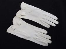 Vintage 1950's Unused Ladies Cream Fabric Hand Stitched Gloves