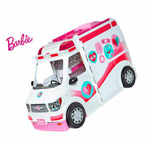 Barbie Careers Care Clinic Ambulance Play Lights Barbie Care Clinic Playset