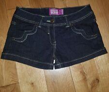 Dark Blue Bershka Denim Hot Pants - Summer Shorts - Size 8