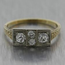 1880's Antique Victorian 14k Yellow Gold 0.50ctw Diamond Ring