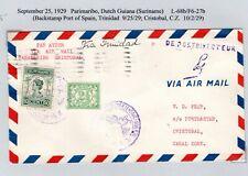 Lindbergh Flight Parimaribo Suriname to Port of Spain Trinidad & Cristobal Cz