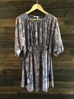 Floreat Anthropologie Women's Size XS Flowy Sheer Dress 3/4 Sleeve