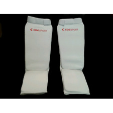 Shin with Foot Corsport Padded Stretch Fabric 8822 06 White