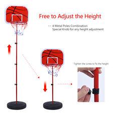 Us Portable Adjustable Basketball System Hoop Backboard Yard Outdoor Kids Sports