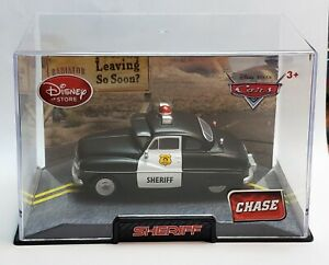 Disney Store Pixar Cars SHERIFF CHASE Die-Cast 1:43 Scale Acrylic Case
