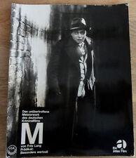 Rarität: Fritz Lang M Peter Lorre WA1959 Hartkarton