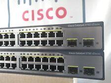 Cisco Catalyst WS-C3750V2-24TS-S 3750 Switch IP ServicesK9 15.0 IOS 3YR Warranty