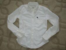 Abercrombie Kids Girl White Oxford Button Down Collar Shirt size M *GUC
