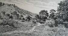 Drawing ink on paper  landscape ART BY UKRAINE ARTIST
