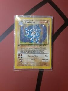Pokemon Card 1st Edition Machamp 8/102 Base Set Rare Holo Sealed