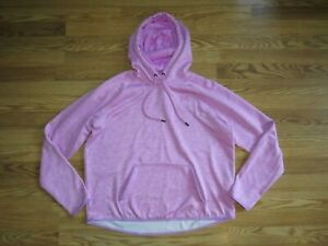 UNDER ARMOUR women's EXTRA LARGE LOOSE pullover HOODIE SWEATSHIRT pink!
