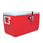 NEW Jockey Box Cooler for Beer - 1 Faucet, 5/16'' x 120' Stainless Coils, 48qt